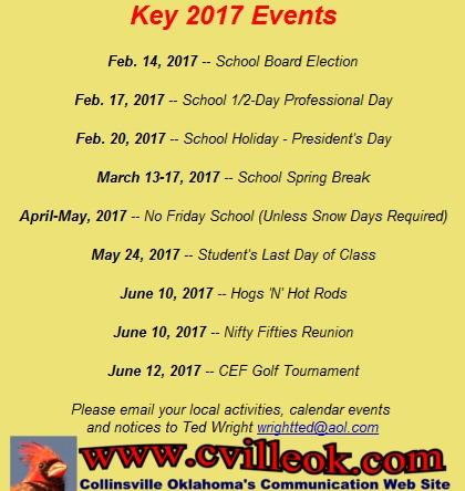 Misc. News -- January 25, 2017 -- Collinsville, OK -- cvilleok.com